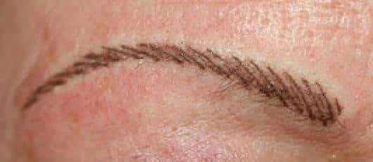 Mirkoblading Augenbraue nacher
